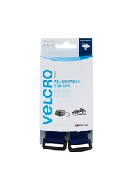 VELCRO® brand Adjustable Straps 25mm x 92cm - Blue (2 per pack)