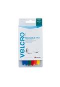12mm x 200mm VELCRO® brand Adjustable Ties Assorted Colours